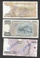 Greece Set 1000, 5000, 10000 Drachmas 1987-1995 FAKE!!! - Greece