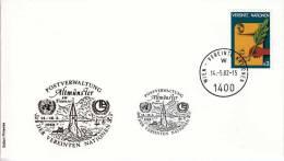 United Nations Vienna Stamp Exhibitions Gold-printed Envelopes - ALTMUNSTER´82 - Centre International De Vienne