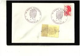 CAD  14 CAEN GAMBETTA - Marcophilie (Lettres)