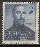 España 1118 (*) San Francisco Javier. 1952. Sin Goma. - 1951-60 Ongebruikt