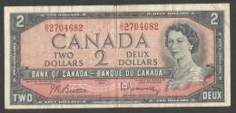 [NC] Banque Du CANADA / Bank Of CANADA - 2 DOLLARS (OTTAWA 1954) - Canada