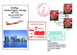 Erstflugpost - Air Berlin - Berlin / Tegel - Chicago / O´Hare - 23.03.2013 [dz91] - Luftpost