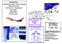 Sonderflugpost - Air Berlin - Rovaniemi - Düsseldorf - 10.03.2013 [dz90] - Luftpost
