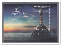 Maleisie 2013 Postfris MNH Lighthouse, Overprint - Malaysia (1964-...)