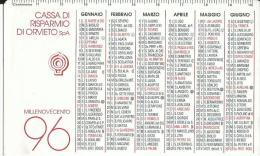 CAL382 - CALENDARIETTO 1996 - CASSA DI RISPARMIO DI ORVIETO - Formato Piccolo : 1991-00