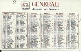 CAL384 - CALENDARIETTO 1996 - GENERALI - ASSICURAZIONI GENERALI - Calendari