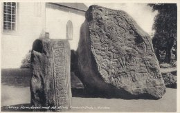 Jelling - The Runic Stones With The Oldest Picture Of Christ In The North.  Denmark   A-2867 - Dolmen & Menhirs