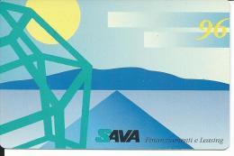 CAL392 - CALENDARIETTO 1996 - SAVA FINANZIAMENTI E LEASING - Calendari
