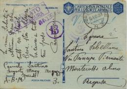 Regno D´Italia 1942 Cartolina Di Franchigia Militare Da Posta Militare 3 (Intendenza Africa Settentrionale - Libia) - WW2