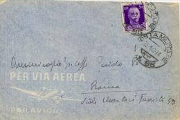 Regno D´Italia 25/1/1943 Busta Con 50 Cent. Da Posta Militare 85 (Intendenza Africa Settentrionale - Tunisia) Per Roma - WW2