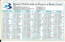 CAL441 - CALENDARIETTO 1997 - BANCA POPOLARE DI PUGLIA E BASILICATA - Calendari