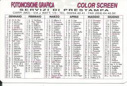 CAL442 - CALENDARIETTO 1997 - FOTOINCISIONE GRAFICA - CARPI (MODENA) - Formato Piccolo : 1991-00