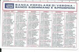 CAL445 - CALENDARIETTO 1997 - BANCA POPOLARE DI VERONA - BANCO S. GEMINIANO E S .PROPSPERO - Calendari