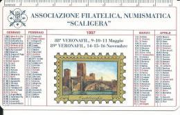 CAL446 - CALENDARIETTO 1997 - ASSOCIAZIONE FILATELICA NUMISMATICA SCALIGERA. VERONA - Calendari