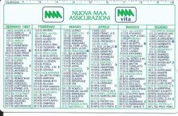 CAL447 - CALENDARIETTO 1997 - NUOVA MAA ASSICURAZIONI - Calendari