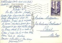 1961  20 Fr  Croix Gothique Seul Sur Carte Postale Pour La France  Yv 148 - Cartas