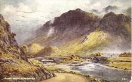 Edward H. Thompson - Grange Bridge At Borrowdale In The English Lake District  -   A 611 - Unclassified