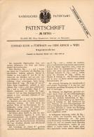 Original Patentschrift - C. Kuhn Und G. Kirsch In Fünfhaus B. Wien , 1886 , Sägemaschine , Sägewerk , Schreinerei , Holz - Maschinen
