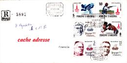 PLI  ANDORRE ESPAGNOLE POUR LA FRANCE  RECOMMANDE (CERTIFICADO) - Lettres & Documents