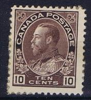 Canada: 1911 Mi 97 ,  MH/*, Parts Of Paper On The Back - Ongebruikt