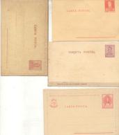 GENERAL JOSE DE SAN MARTIN - 3 CARTAS POSTALES Y 1 TARJETA POSTAL -BELLE COMPOSITION REPUBLICA ARGENTINA - Ganzsachen