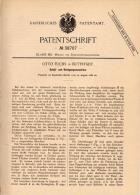 Original Patentschrift - Otto Fuchs In Buttstädt B. Sömmerda , 1886 , Schäl- Und Reinigungsmaschine , Mühle !!! - Maschinen