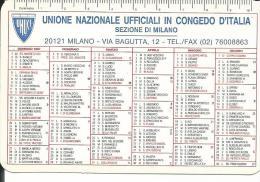 CAL457 - CALENDARIETTO 1997 - UNIONE NAZIONALE UFFICIALI IN CONGEDO D´ITALIA - Calendari