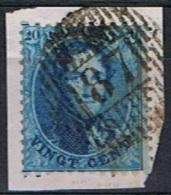N° 15 Sur Fragment D 87 GRUPONT Frappe Superbe - 1863-1864 Medallions (13/16)