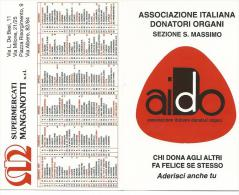 CAL464 - CALENDARIETTO 1997 - SUPERMERCATI MANGANOTTI - ASSOCIAZIONE DONATORI ORGANI - Calendari