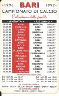 CAL467 - CALENDARIETTO 1997 - PASTA AMBRA - BARI CAMPIONATO DI CALCIO - Calendari