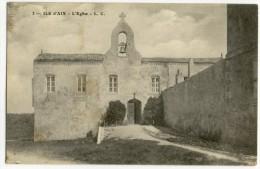 ILE D'AIX. - L'Eglise. Carte Adressée à Mlle ROBUCHON - France