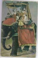 Enfants Sur Un éléphant - Colorisée - Éléphants