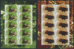 !a! GERMANY 2012 Mi. 2913-2914 MNH SET Of 2 SHEETS(10) -Re-Settlement By Domestic Wild Animals - [7] Federal Republic
