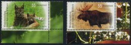 !a! GERMANY 2012 Mi. 2913-2914 MNH SET Of 2 SINGLES From Lower Right Corners -Re-Settlement By Domestic Wild Animals - [7] Federal Republic