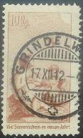 PJ 1912:Vorläufer / Précurseur Zu.No. I Mit O GRINDELWALD 17.XII.12 (Zumstein CHF 200.00 ) - Pro Juventute