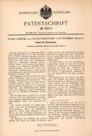 Original Patentschrift - F. Vanicek Und G. Mosovsky In Kuttenberg / Kutná Hora , 1893 , Deckel Für Filter , Chemie !!! - Historische Dokumente