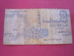 Égypte Égypt 25 PIASTRES BANK BILLET DE BANQUE BANCONOTE BANKNOTE BILLETES BANKNOTEN - Egipto