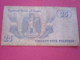 Égypte Égypt 25 PIASTRES BANK BILLET DE BANQUE BANCONOTE BANKNOTE BILLETES BANKNOTEN - Egypt