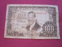 Espagne España  100  Pesetas BANK BILLET DE BANQUE BANCONOTE BANKNOTE BILLETES BANKNOTEN - [ 3] 1936-1975 : Regime Di Franco
