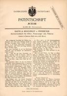 Original Patentschrift - Barth & Hirschfeldt In Swinemünde / Świnoujście , 1884 , Heizung , Ofen , Tür , Feuer - Historische Dokumente