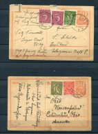 Germany 1922 (2) Upgrated Postal Cards To USA - Germany