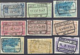 _Tr940: Restje 9 Zegels: GAND - GENT... Om Verder Uit Te Zoeken: Stempels... Eventueel Variëteiten.. - 1923-1941