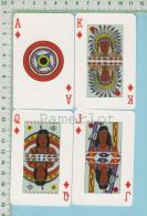 4 Cartes A Jouer (Amérindien Des Prairie Manitoba, Alberta, Saskatchewan ) Native Are  Canada - Ohne Zuordnung