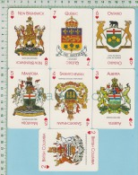 13 Cartes A Jouer ( Blason Shield Emblèmes Des Provinces Et Du Canada Avec Leurs Mottos ) - Non Classés
