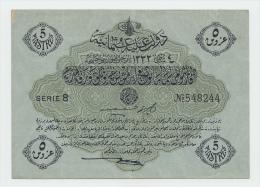 OTTOMAN TURKEY 5 PIASTRES 1332 XF P 96 - Turkije