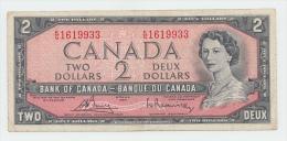 Canada 2 Dollars 1954 (1972 - 1973) VF CRISP Banknote P 76c 76 C - Canada