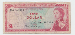 "East Caribbean States 1 Dollar 1965 ""F"" P 13b (sig. 3) - Caribes Orientales"