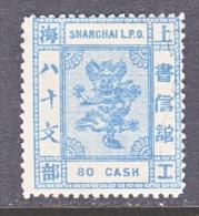 CHINA  SHANGHAI  87  *  ORIGINAL  1877  ISSUE - Cina