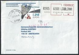 Registered Cover From Ljubljana To Netherland; 07-10-1994 - Slovenia
