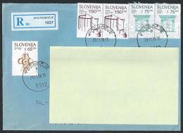 Registered Cover From Podbocje To Netherland; 29-11-1996 - Slovenia